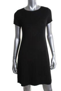 Calvin Klein New Black Short Sleeve Crew Neck T Shirt Casual Dress