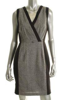 Calvin Klein New Black Sleeveless V Neck Lined Wear to Work Dress