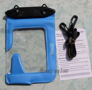 1x Underwater Camera Waterproof Case Dry Bag Diving Dive Blue