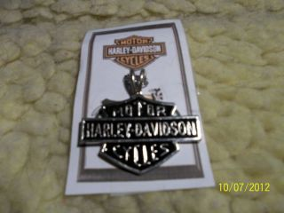 Harley Davidson Bar and Shield Necklace w Chain Very Nice