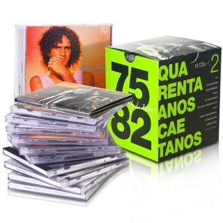 Caetano Veloso Quarenta Anos Box Set with 11 CDs 1975 1982