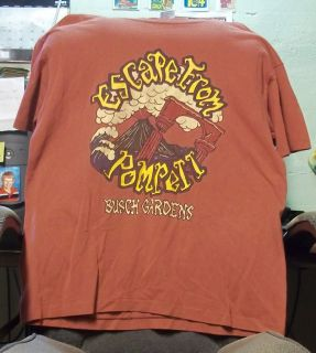 Made in USA Escape from Pompeii Busch Gardens Red T Shirt Adult XL