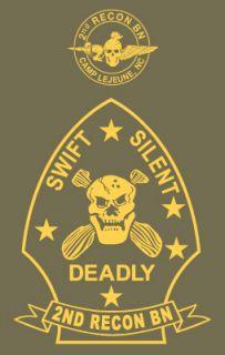 Recon BN USMC Shirt Camp Lejeune Onslow Beach Courthouse Bay
