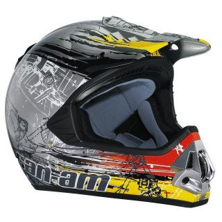 Can Am New Factory ATV MX Pro Cross Helmet Mechanitune Extra Small XS