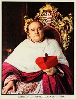 1939 Print Camillo Cardinal Caccia Dominioni Catholic