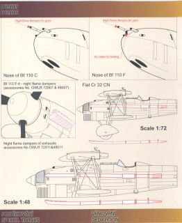 Owl Decals 1/48 CACCIA NOTURNO Italian & Romanian Night Fighters