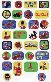Power Rangers Sticker Sheets Birthday Party Supplies Favors