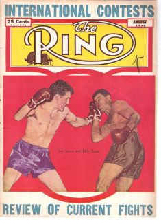The Ring Boxing Magazine ~ Aug 1946 LOUIS vs Conn, Tony Zale, Graziano