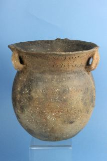 CADDO   ENGRAVED QUAPAW 3 HANDLED VESSEL   ARKANSAS   INDIAN ARTIFACT