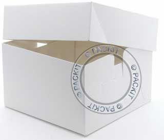 White Cake Boxes 8 x 8 x 6 inch Wedding Birthday Party
