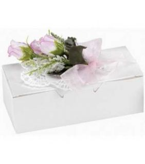 24 White Cake Box for Parties Wedding Bridal Shower