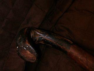Old Folk Art Hand Carved Walking Cane