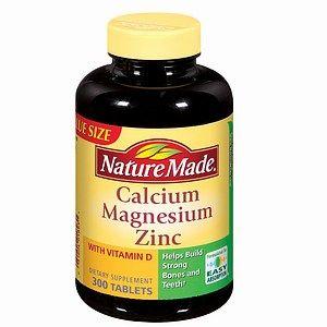 Nature Made Calcium, Magnesium & Zinc + Vitamin D, 300 Tablets