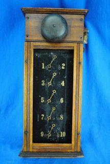 Victorian Butler Maid Servant Call Bell Box Annunciator Panel Doorbell