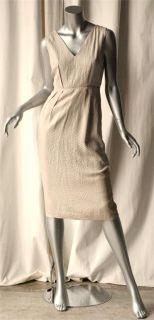 Calvin Klein Collection Snake Print Knee Length Sleeveless Dress 4 New