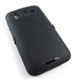Black Impact Hard Case Cover HTC Inspire 4G Desire HD ATT Phone