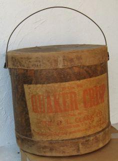 Antique General Candy Store Decor Quaker Crisp D L Clark Zig Zag Ex Lg