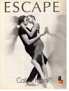 1996 Calvin Klein Escape Perfume Print Ad