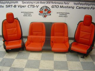 Chevrolet Camaro SS OEM Black Orange Front and Rear Leather Seats LS3
