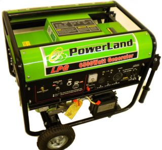 New Powerland 6500 Watt Propane Powered Portable Generator RV Camping
