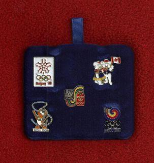 Set of 5 Pins 1988 Calgary Winter Olympic Games Hidy Howdy Hodori