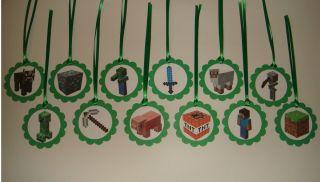 custom Minecraft birthday party supplies candy favor loot bag treat