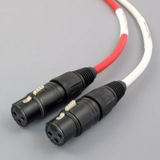 Canare Balanced XLR Audio Interconnect Cables 1M White Red Stereo Pair