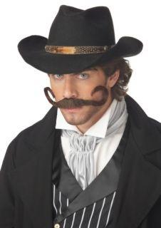 Mens Mustache Western Cowboy Villain Costume Moustache