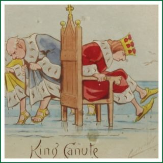 Cynicus King Canute Watercolour Illustration Painting X