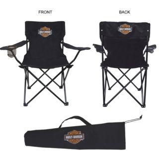 Set of Harley Davidson Folding Camp Chairs and Portable Hammock