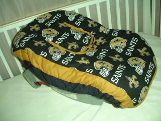 Baby Infant Car Seat Carrier Cover w New Orleans Saints