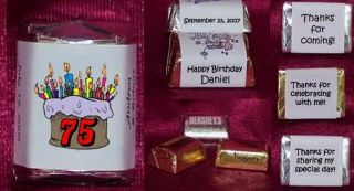 Any Age Adult Kids Birthday Cake Candy Wrappers Personalized Party