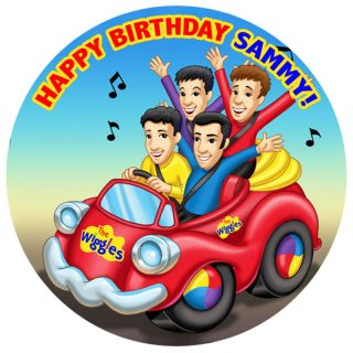 The Wiggles Edible Icing Birthday Cake Topper Circle