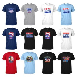 Presidential Election 2012 Vote Campaign T Shirt Tee Barack Obama Mitt