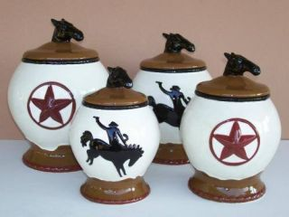 Primitive tin star canister set country rustic kitchen - Western canisters for kitchen ...