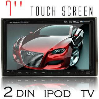 inch Monitor Touch Screen Stereo Car CD DVD Player BT