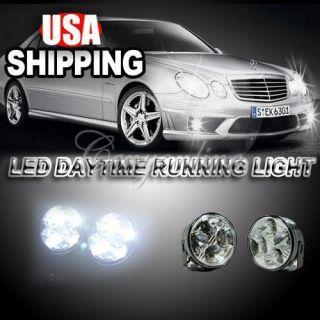 DRL Daytime Running Driving Auto Car Fog Light Lamps Bulb Kit