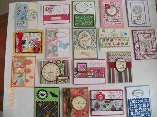 18 Handmade Cards CALENDAR OF EVENTS Assortment with envelopes Stampin