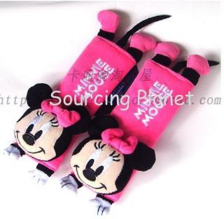 Minnie Mouse Pink Car Safety Seat Belt Pad Cover x 1 Pair