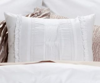 Pce WHITE CALYPSO Ruffled KING Quilt / Doona Cover Set COTTON New