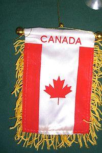 Canada Canadian Flag Mini Banner Soccer Fussball Car Window Hanger New