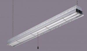 48in Aluminum Diamond Plate Fluorescent Shop Light EFS848232AL