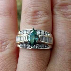 Gorgeous Blue Caribbean Diamond Ring