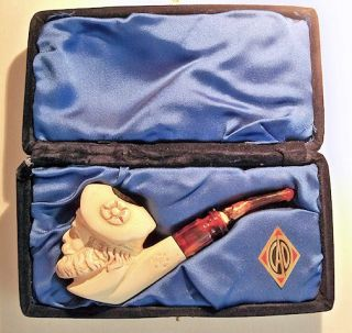 This CAO meerschaum pipe measures 5 1/2 total length.