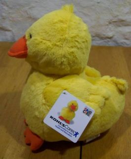 Kohls Eric Carle Extra Soft Yellow Duck 10 Plush Stuffed Animal Toy
