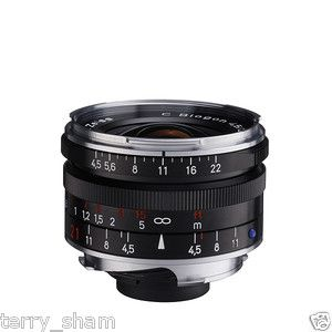 New Carl Zeiss C Biogon T 21mm F4 5 ZM Wide Angle Lens Black Leica M