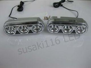2x6 Car Truck LED Day Driving Fog Lights White Z45