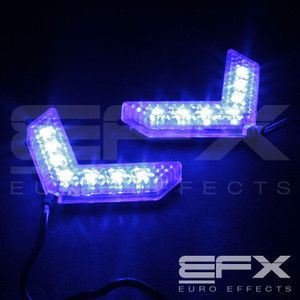 Blue 7 LED Mirror Turning Signal Arrow Lights Can Am Motorcycle