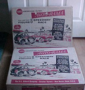 Vintage Gilbert Slot Car Racing Sets with 6 Slot Cars
