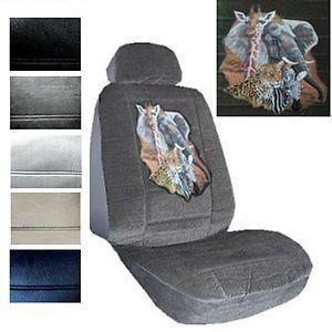 Seat Covers Car Truck SUV Leopard Zebra Giraffe Elephant Low Back PP 1
